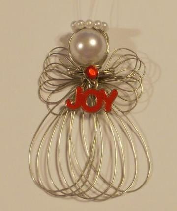 "Christmas ""Joy"" Angel Ornament Handmade New"
