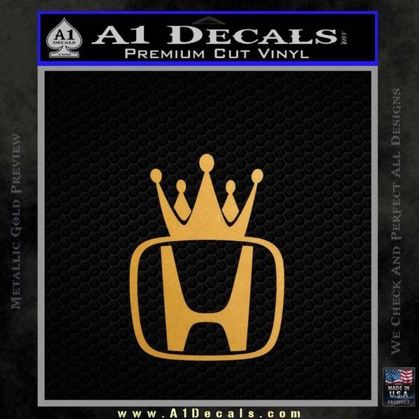 Honda crown logo decal sticker decal sticker