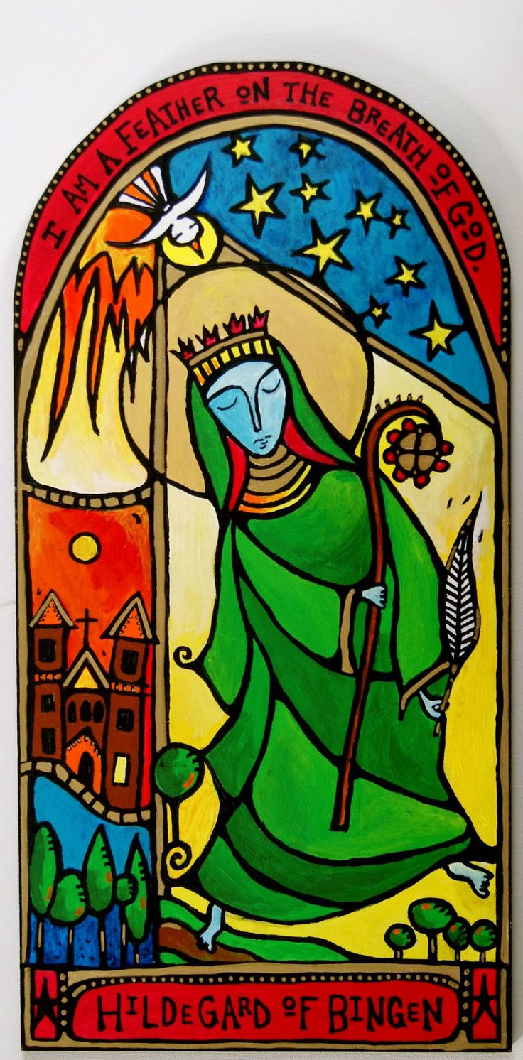 I Am A Feather On The Breath Of God ~ Hildegard Of Bingen Art By