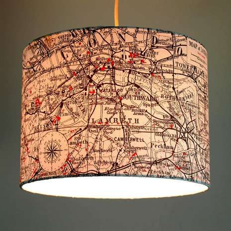 Enhance your living space with a contemporary decorative touch with this light shade, featuring a map of London with…