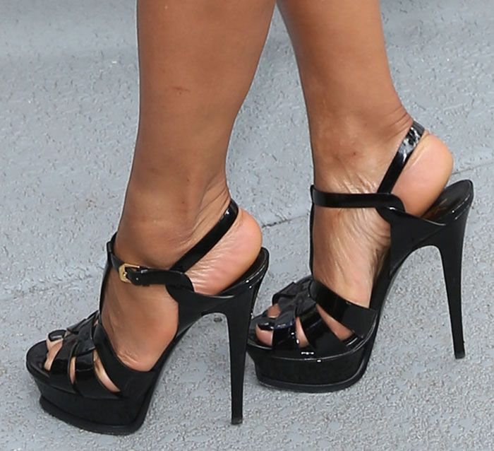 Christina Milian In Saint Laurent Sandals Saint Laurent