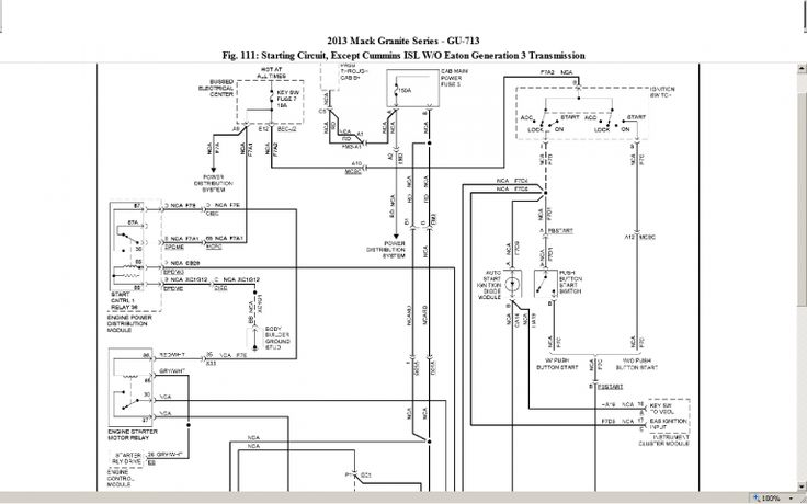 2011 Mack Truck Fuse Diagram and Mack Gu Cab Wiring