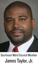 North Carolina Central alum James Taylor Jr is a co-owner of owners, The Chronicle Media Group, LLC, which has purchased the Winston Salem Chronicle newspaper.  He  is also a City Council Member who represents the Southeast Ward.