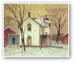 """""""Farm House"""" by A.J. Casson, member of Canada's Group of Seven."""