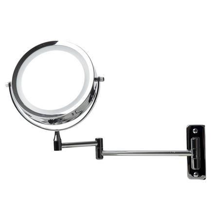 Prepare for a fun night out with your friends with our wall mounted extendable LED mirror, available to buy online today. Our silver extendable mirror is the ultimate grooming accessory Built with a strong extendable arm, our double sided LED mirror can be adjusted to get the pefect angle to help you with your daily grooming and can fold up against the wall after use to make the most of your bathroom space, the mirror on the reverse of this product is 3 x magnified to ensure