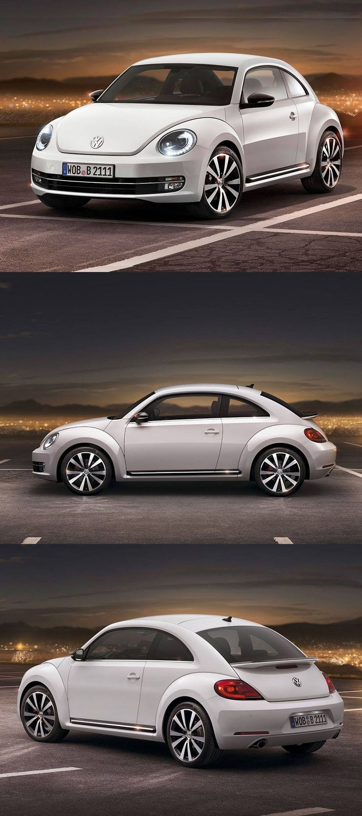 The new volkswagen beetle has a surprising fresh new look with a