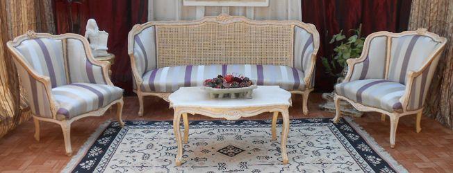 salon style louis XV canape fauteuils bergere style louis XV
