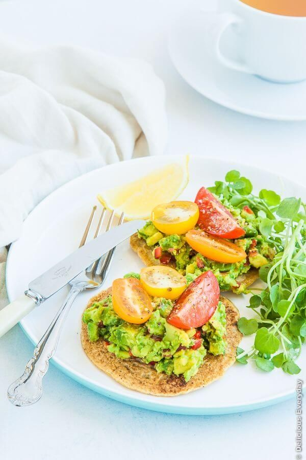 Chickpea pancakes with avocado tomato and watercress - a wonderful ...