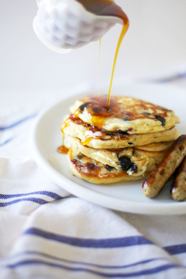 Blueberry Buttermilk Pancakes - literally cannot stop ...