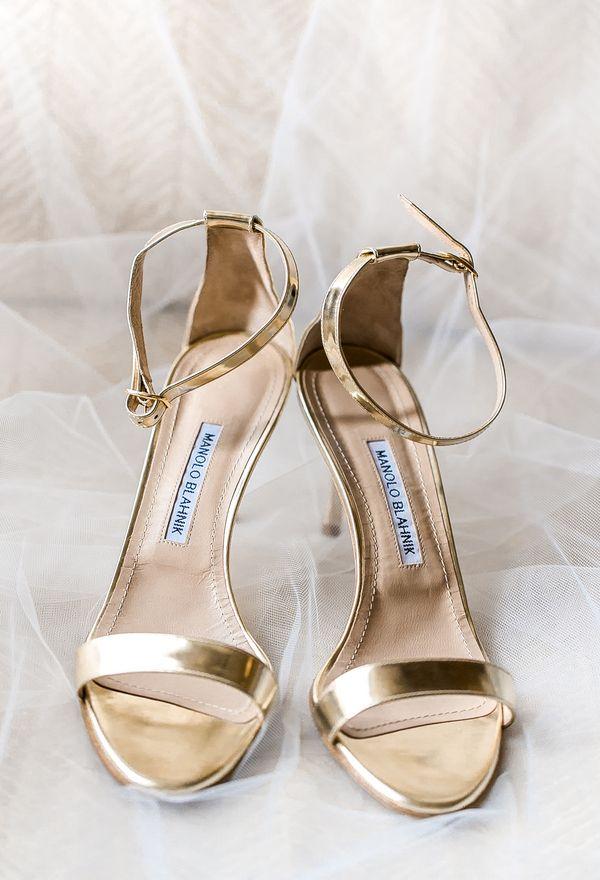 Adore these gold Manolo Blahnik sandals (Photo by Vivian N Photos)