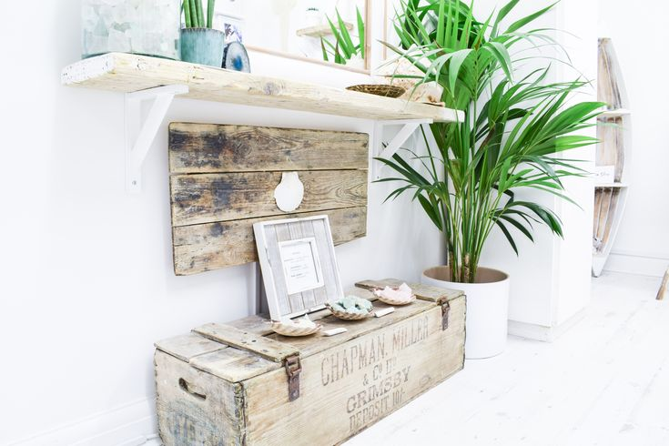 Reclaimed banana crate from Grimsby Docks