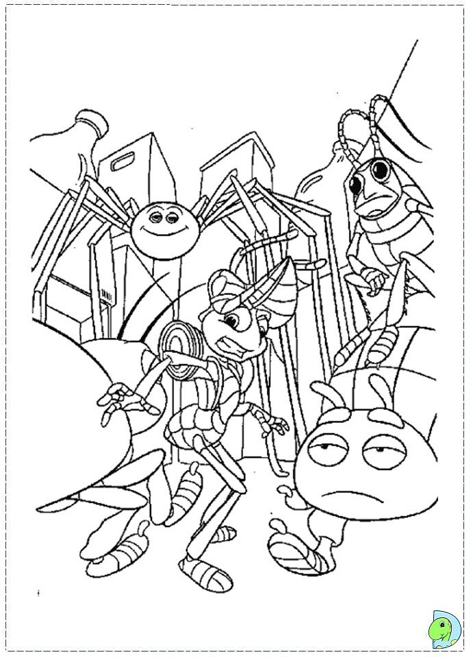 a bugs life colouring pages