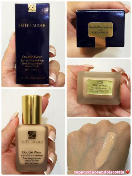 Estée Lauder Double Wear Foundation  Shade: 2C0 Cool Vanilla  www.cappuccinosandbiscottis.com