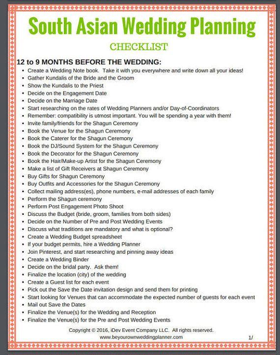 Best 25+ Indian wedding planning ideas on Pinterest Indian - wedding planning checklist