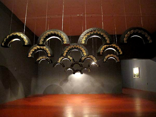 much like art these decorative tire drop lamps and incredible interest to any room