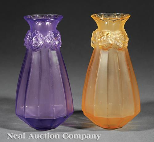 Buy online, view images and see past prices for Two Lalique Molded and Frosted Glass Vases. Invaluable is the world's largest marketplace for art, antiques, and collectibles.