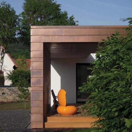 copper cladding.  Haus + by Anne Menke and Winkens Architekten