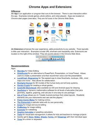 Handy Chrome Extensions and Apps for Teachers ~ Educational Technology and Mobile Learning