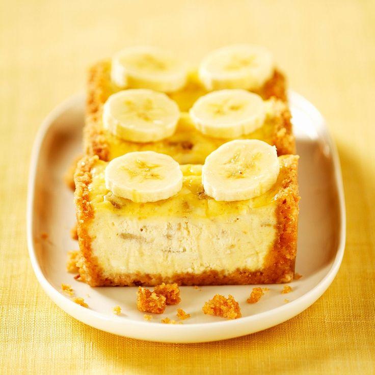 Découvrez la recette Cheesecake à la banane et au fromage blanc sur cuisineactuelle.fr.