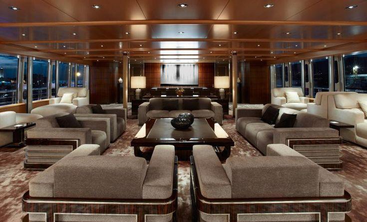 Luxury Yacht Interior Design | Luxury yacht Musashi – Interior Image courtesy of…