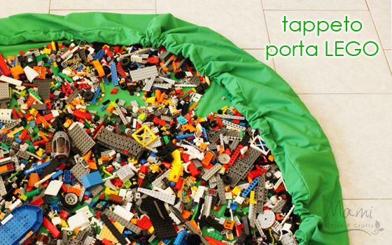 mami chips & crafts: Tappeto raccogli lego fai da te
