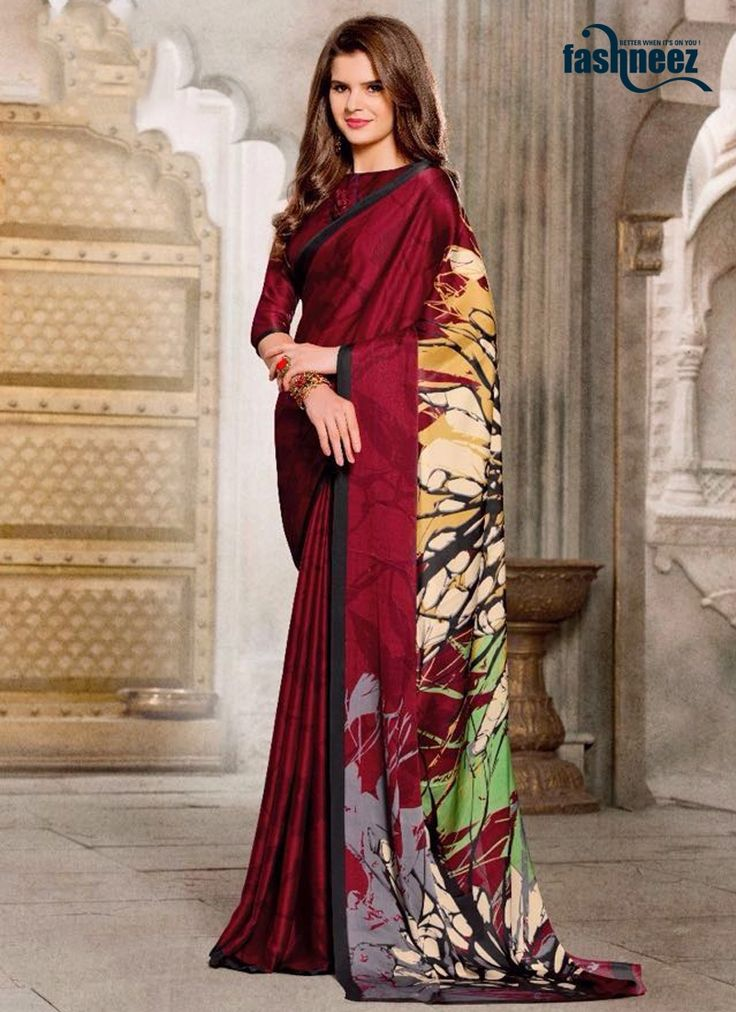 Design and trend will be at the peak of your magnificence after you dresses this multi colour georgette and satin casual saree. This dress is beautifully adorned with print work. Comes with matching b...