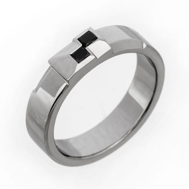 Unique black diamond ring.