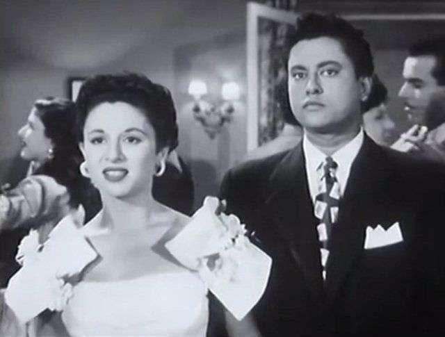 فاتن حمامة ونور الدمرداش في لقطة من فيلم موعد مع الحياة 1953 Actors Actresses Actors Actresses