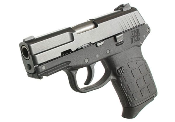 Kel-Tec PF9, at nearly 12oz. empty, it is great value at ~$300 the price is right to keep in your kit. simple double action trigger means you don't have to fiddle with a safety in a time-is-life situation.
