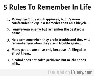 5 Rules To Remember In Life