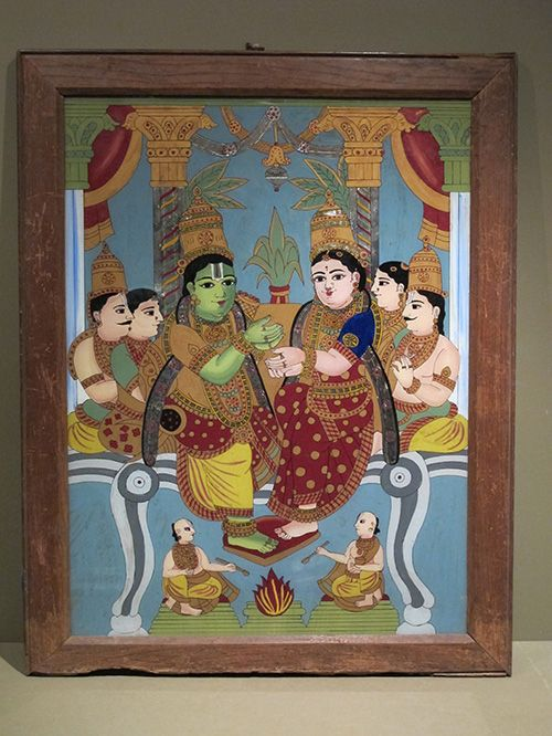 Maharashtra reverse Glass painting