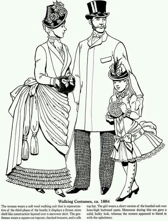 Costumes Coloring Free Pages For Adults Pinterest