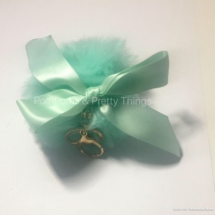 A personal favourite from my Etsy shop https://www.etsy.com/uk/listing/564796360/mint-pompom-key-chain-mint-pompom-bag