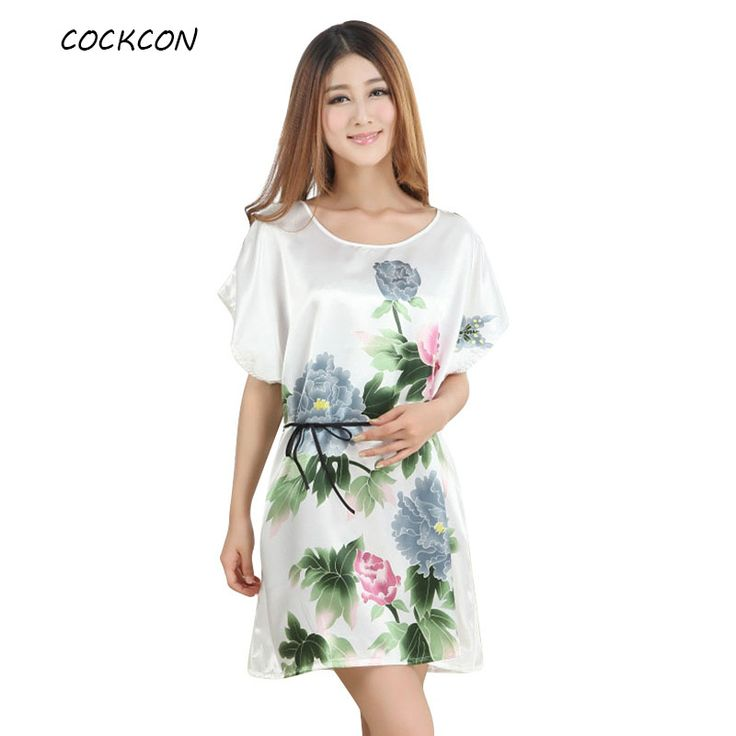 COCKCON Fashion Chinese Style Women Sexy Lingerie Lady Peony Robe Kimono Bath Gown Nightgown Sleepwear