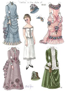 Beautiful historic paper dolls you can print for FREE