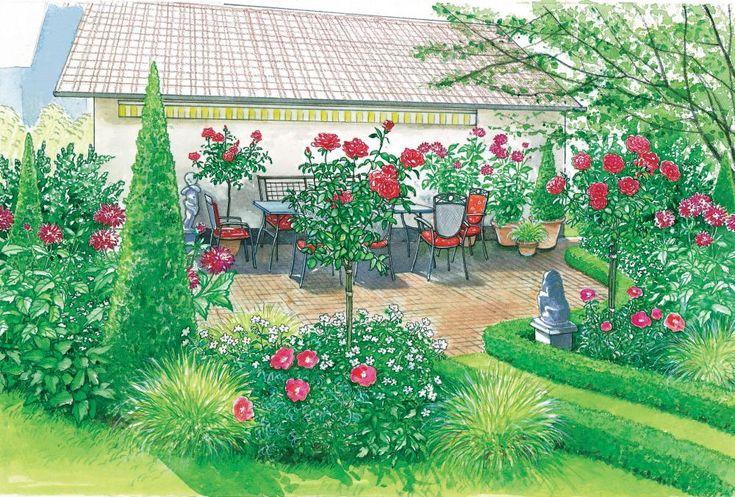 68 best Blumenbeete images on Pinterest Flower beds, Urban - gartenplanung beispiele kostenlos