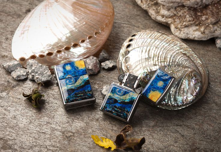 http://www.antiquealive.com/store/detail.asp?idx=5162&CateNum=167&pname=Zippo-Mother-of-Pearl-Cigarette-Lighter-with-Starry-Night-by-Van-Gogh Mother of Pearl Zippo Cigarette Lighter with Starry Night by Van Gogh
