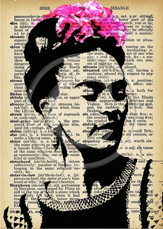 Frida Kahlo nine ATC images... A4 digital download by Lilysart1