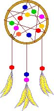 Dream Catchers are from Native American lore; they trap bad dreams and let the good dreams filter down to the sleeper.