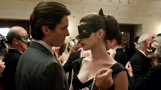 TDKR: Bruce Wayne (Christian Bale) and Selina Kyle (Anne Hathaway)