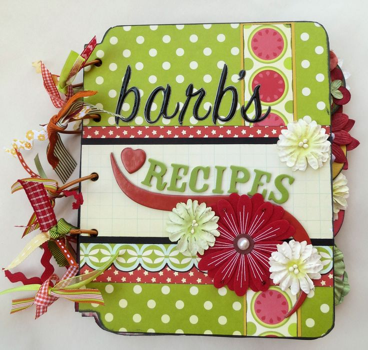 Cookbook Cover Page Ideas : Images about recipe scrapbook on pinterest