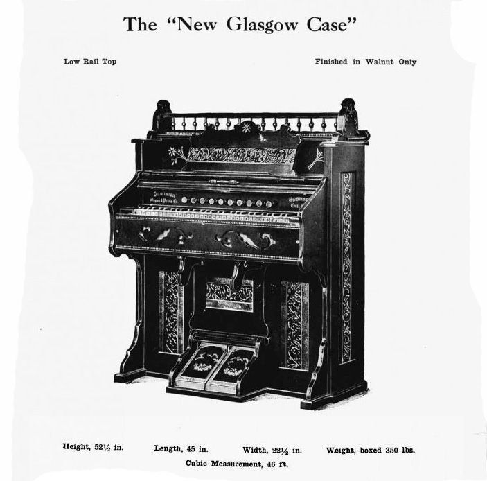 Dominion - 1M Reed Organ. Glasgow Case