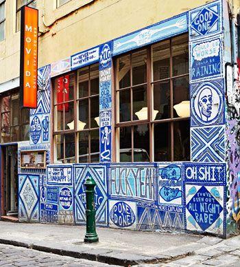 Outside art - Movida Restaurant, Melbourne