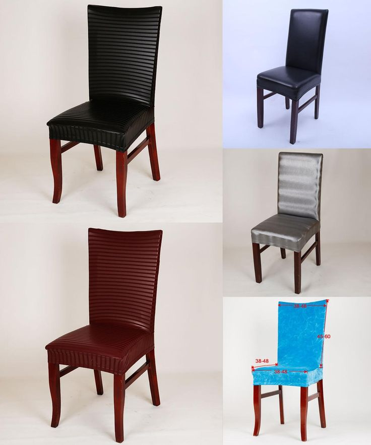 Visit to Buy] Leather pu chair cover Elastic stoelhoezen eetkamer ...