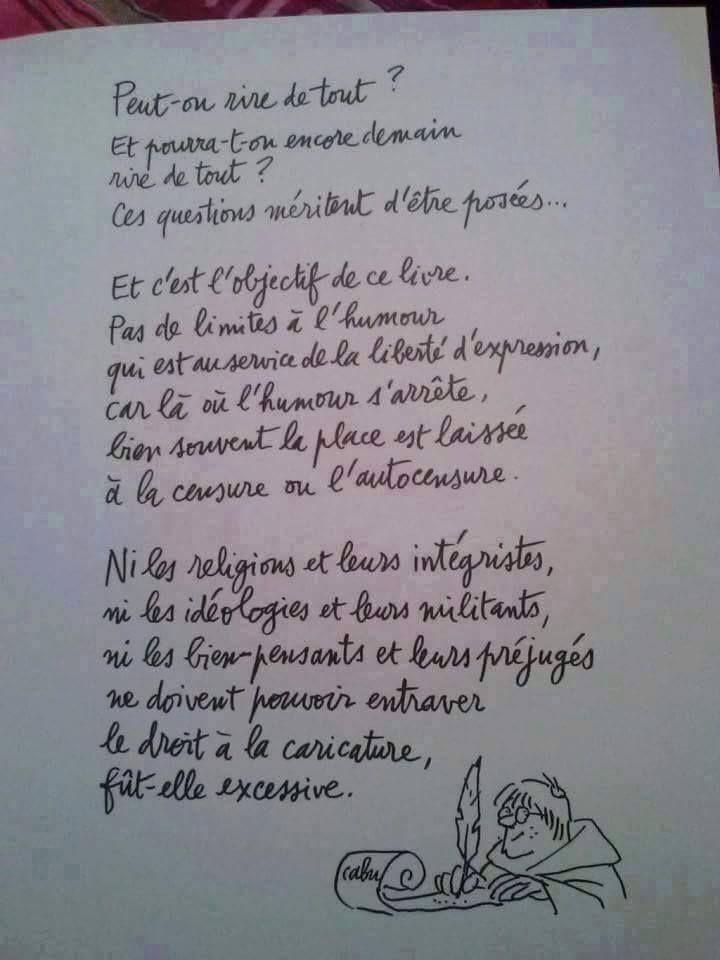 #Cabu sur l'#humour et la #LibertéDexpression contre la #censure | #CharlieHebdo