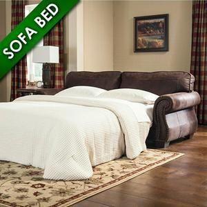 Baltwood Queen Sofa Sleeper in Espresso | Nebraska Furniture Mart