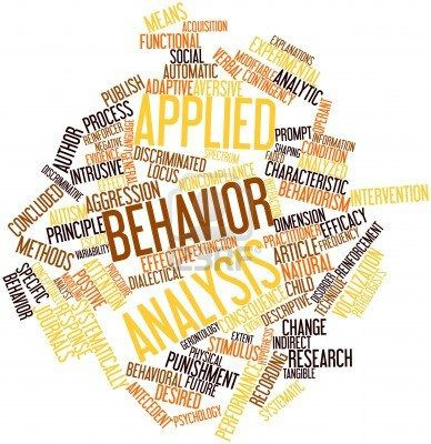 Abstract Word Cloud For Applied Behavior Analysis With Related Tags And  Terms Stock Photo