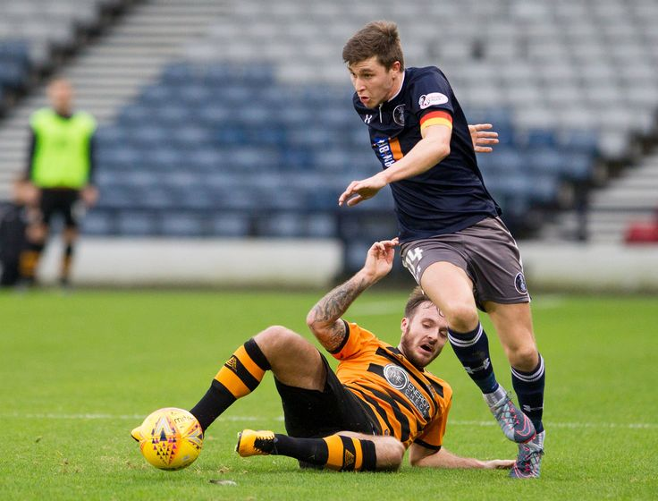 Queen's Park's Sean Burns in action during the SPFL League One game between Queen's Park and Alloa Athletic.