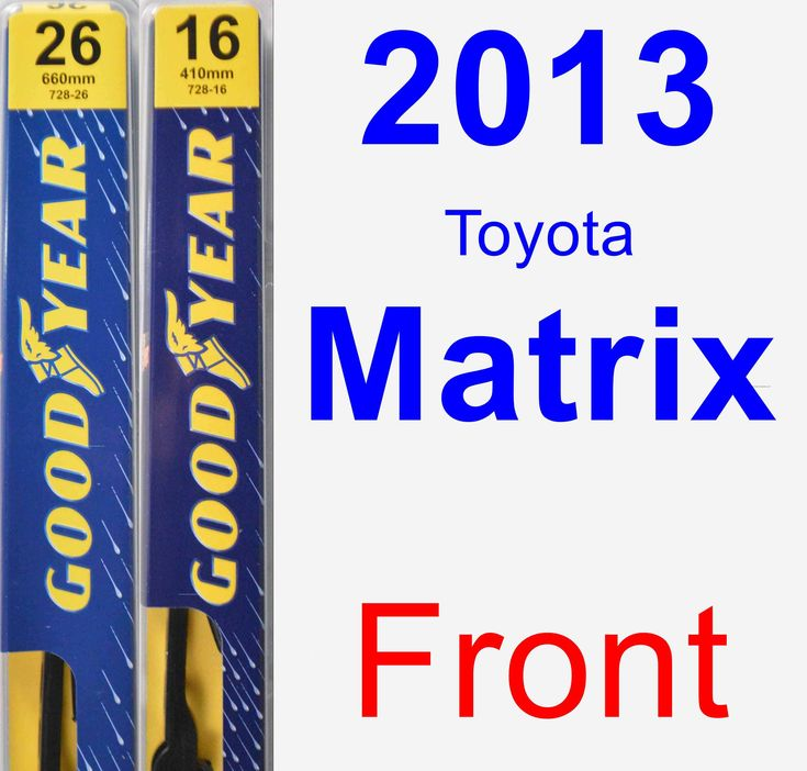 Front Wiper Blade Pack For 2013 Toyota Matrix