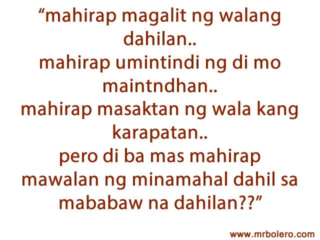 Tagalog Quotes | Tagalog Love Quotes Collection | Pick up lines | Sad Quotes - Part 5